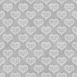 Gray and White Polka Dot Hearts Pattern Repeat Background — Stock Photo