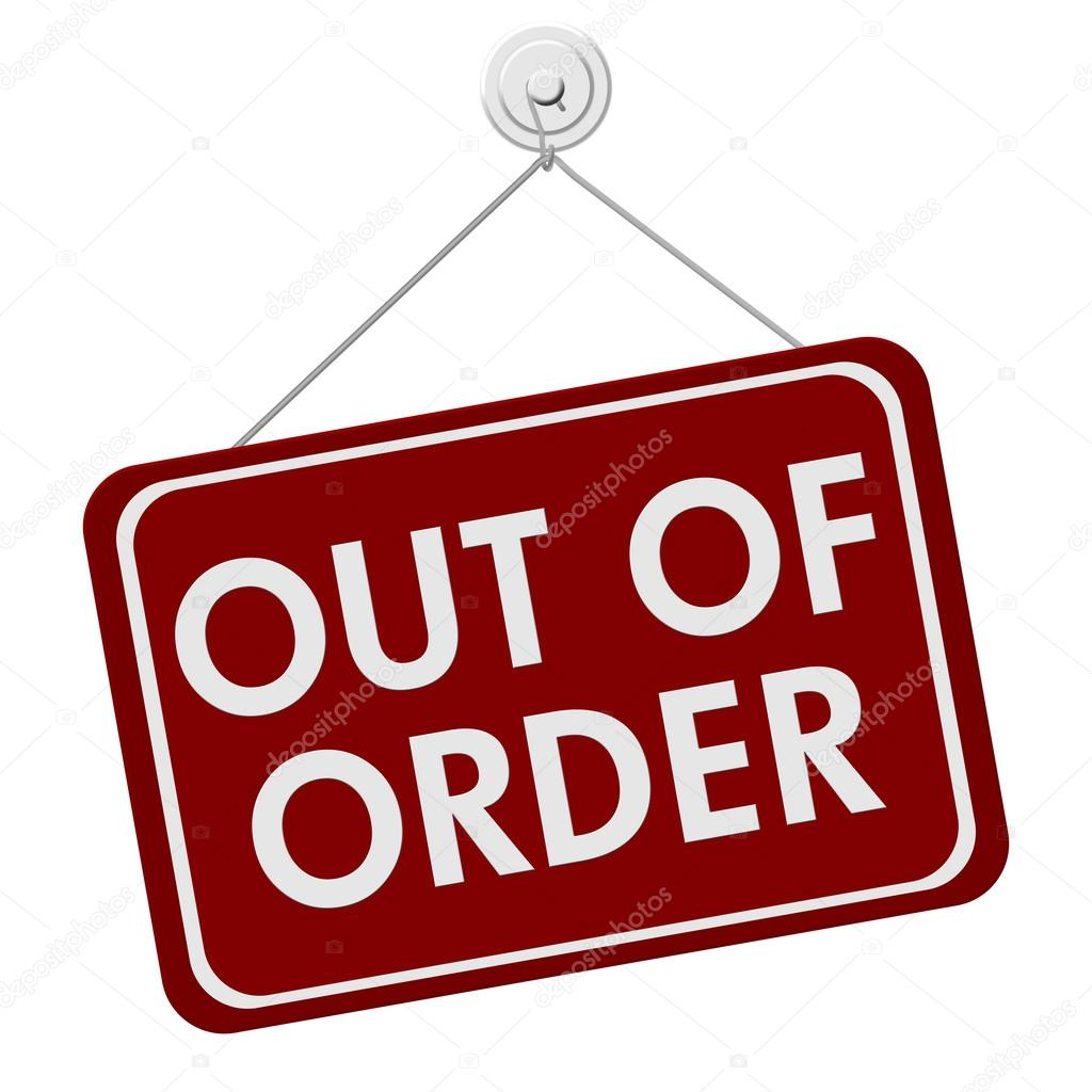 out of order sign stock photo karenr 40419183. Black Bedroom Furniture Sets. Home Design Ideas