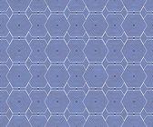蓝色和白色六边形瓷砖图案重复背景 — 图库照片