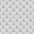 Stock Photo: Gray and White Chevron Hearts Pattern Repeat Background