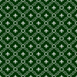 Stock Photo: White and Dark Green Fleur-De-Lis Pattern Textured Fabric Backgr