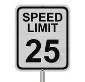 Speed Limit 25 Sign — Stock Photo