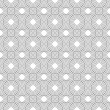Stock Photo: Gray and White Circles Tiles Pattern Repeat Background