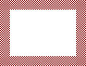 Red and White Checkered Frame — Stock Photo