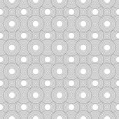Gray and White Circles Tiles Pattern Repeat Background — Stock Photo