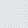 Stock Photo: White and Pale Blue Fleur-De-Lis Pattern Textured Fabric Backgro