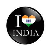 I Love India button — Stock Photo
