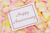 Happy Anniversary card  — Stock Photo