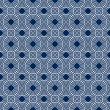 Stock Photo: Navy Blue and White Circles Tiles Pattern Repeat Background