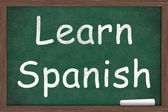 Learning Spanish — Stock Photo