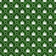 Stock Photo: Green and White MarijuanLeaf Pattern Repeat Background