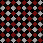 Black, Red and Gray Argyle Pattern Repeat Background — Stock Photo