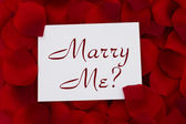 Marry Me? card — Stock Photo