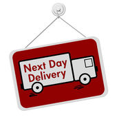 Next Day Delivery Sign — Stock Photo