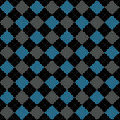 Black, Blue and Gray Argyle Pattern Repeat Background — Stock Photo