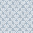Stock Photo: Blue and White Chevron Hearts Pattern Repeat Background