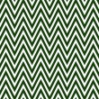 Stock Photo: Thin Hunter Green and White Horizontal Chevron Striped Textured