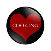 I Love Cooking button — Stock Photo