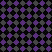 Black, Purple and Gray Argyle Pattern Repeat Background — Stock Photo