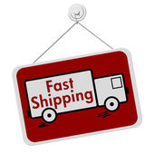 Fast Shipping Sign — Stock Photo
