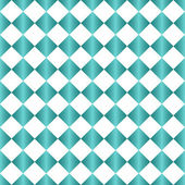 Teal and White Diamond Pattern Repeat Background — Stock Photo