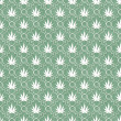 Green and White Marijuana Leaf Pattern Repeat Background — Stock Photo