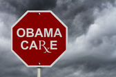 Stop ObamaCare Sign — Stock Photo