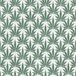 Green and White Marijuana Leaf Pattern Repeat Background — Stock Photo #43686011