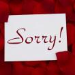 Постер, плакат: I am sorry card
