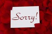 I am sorry card — Stock Photo