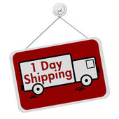 One Day Shipping Sign — Stock Photo