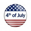 4th of July Button — Stock Photo
