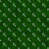 Green and White Prescription symbol Pattern Repeat Background — Stock Photo