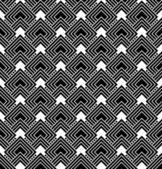 Black and White Diamonds Tiles Pattern Repeat Background — Stock Photo