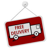 Free Delivery Sign — Stock Photo
