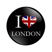 I Love London button — Stock Photo