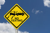 No Texting While Driving Sign — Stock Photo