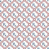 Red, White and Blue Prescription symbol Pattern Repeat Backgroun — Stock Photo