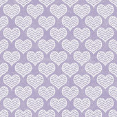 Purple and White Chevron Hearts Pattern Repeat Background — Stock Photo