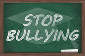 Stop Bullying Message — Stock Photo