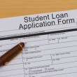 Student Loan Application Form — Stock Photo #45875529