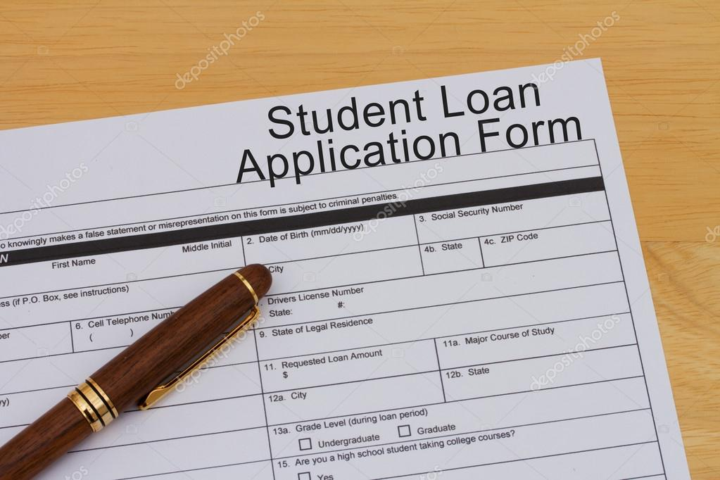 Student Loan Application Form  Stock Photo  Karenr