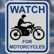 Watch For Motorcycles Warning Sign — Stock Photo #46026191
