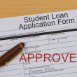 Student Loan Application Form — Stock Photo #46081417