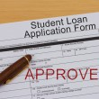Student Loan Application Form — Stock Photo