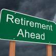 Retirement Ahead Sign — Stock Photo
