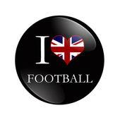 I Love British Football button — Stock Photo