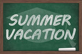 Summer Vacation Message — Stock Photo
