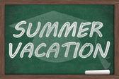 Summer Vacation Message — Stock Photo