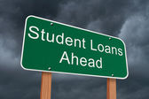 Student Loans Ahead Sign — Stock Photo